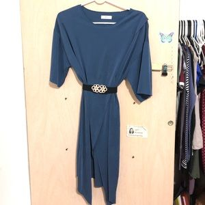 Tops - ONE SIZE Blue Shirt/Dress from South Korea